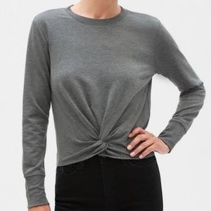 BANANA REPUBLIC Twist Knotted Front Sweatshirt